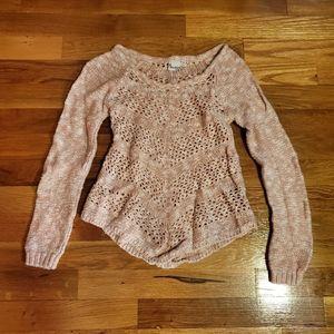 Girls long sleeve 7/8 mudd sweater